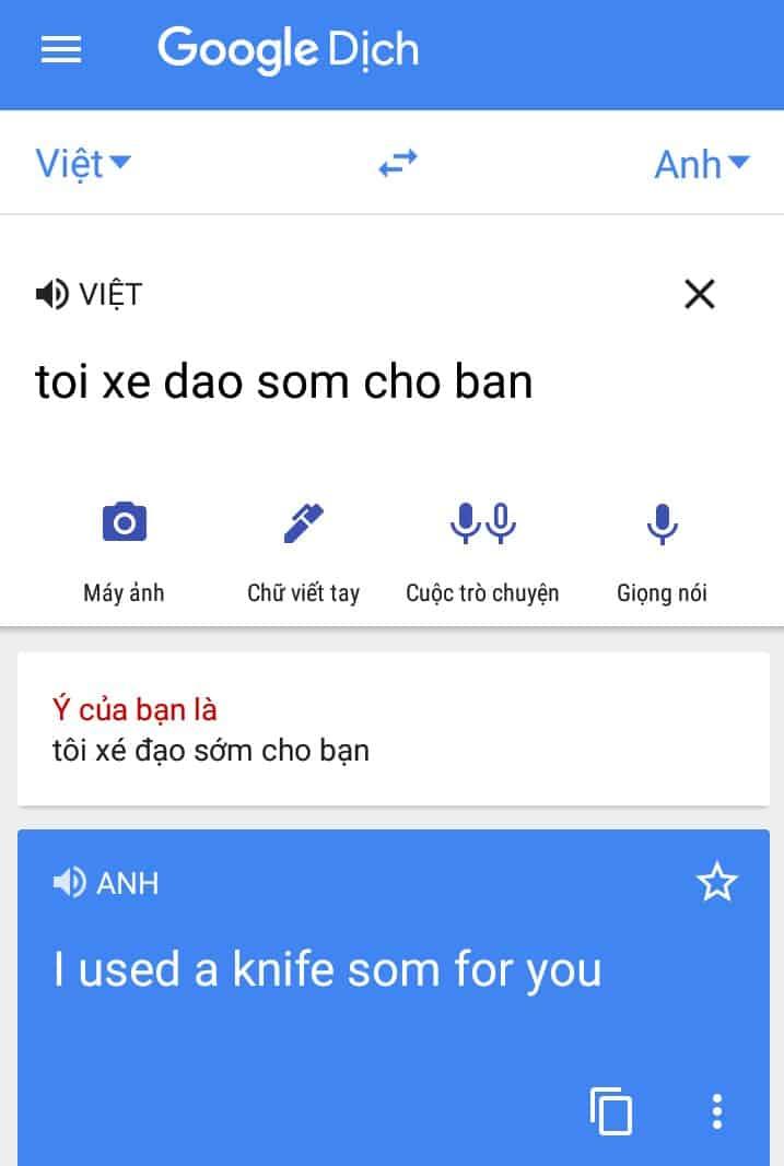 Vì sai chính tả tiếng Việt nên sau khi dịch sang nghĩa tiếng Anh khách hang đã sợ hãi và huỷ chuyến ngay