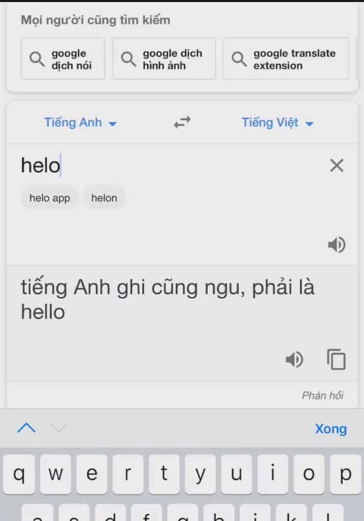 Một kết quả không thể ngờ khi sử dụng google dịch, không những tra ra kết quả mà còn bị chửi ngược lại