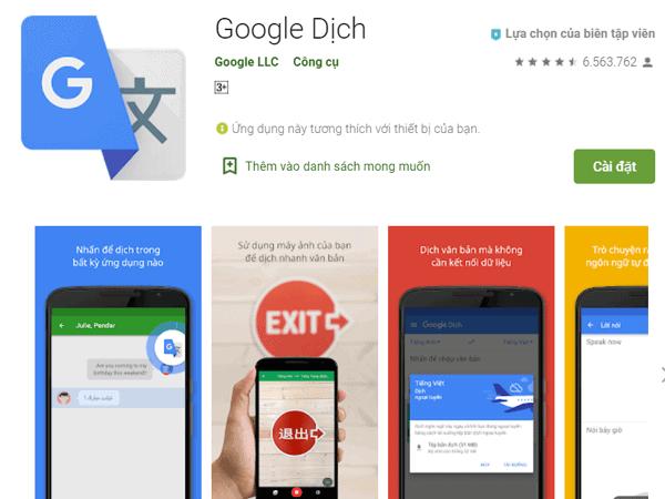 App Google translate là một trong những ứng dụng được ưa chuộng nhất hiện nay