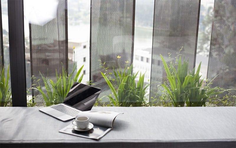 Một góc phòng xanh mát. Hình: hotelcolline