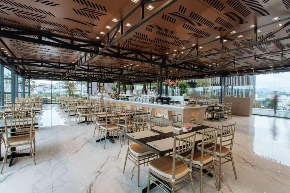 Khu vực nhà hàng ở khách sạn Colline. Hình: hotelcolline