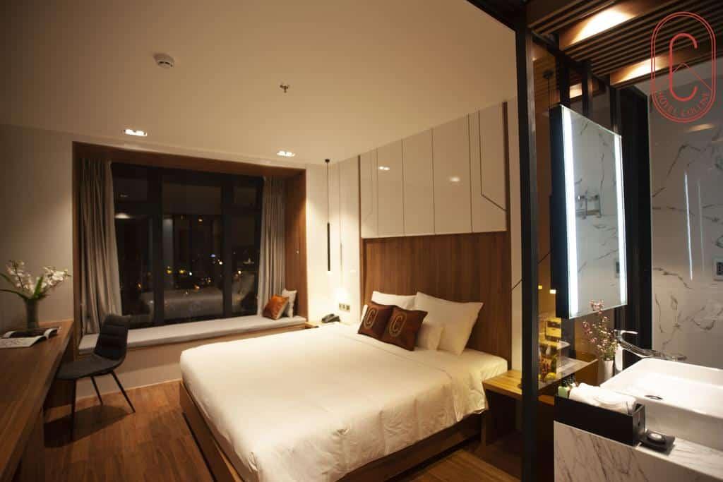 Hạng phòng Deluxe khách sạn Hôtel Colline Đà Lạt. Hình: hotelcolline