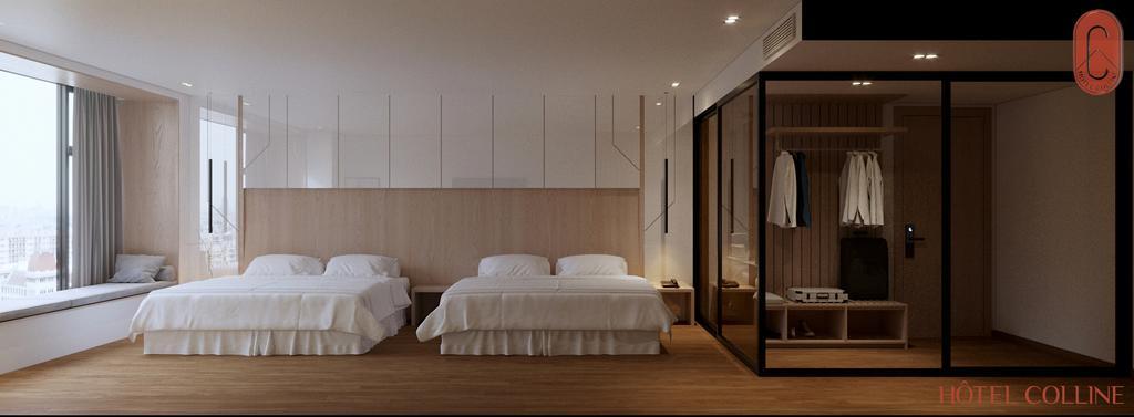 Hạng phòng Deluxe Family khách sạn Hôtel Colline Đà Lạt. Hình: hotelcolline