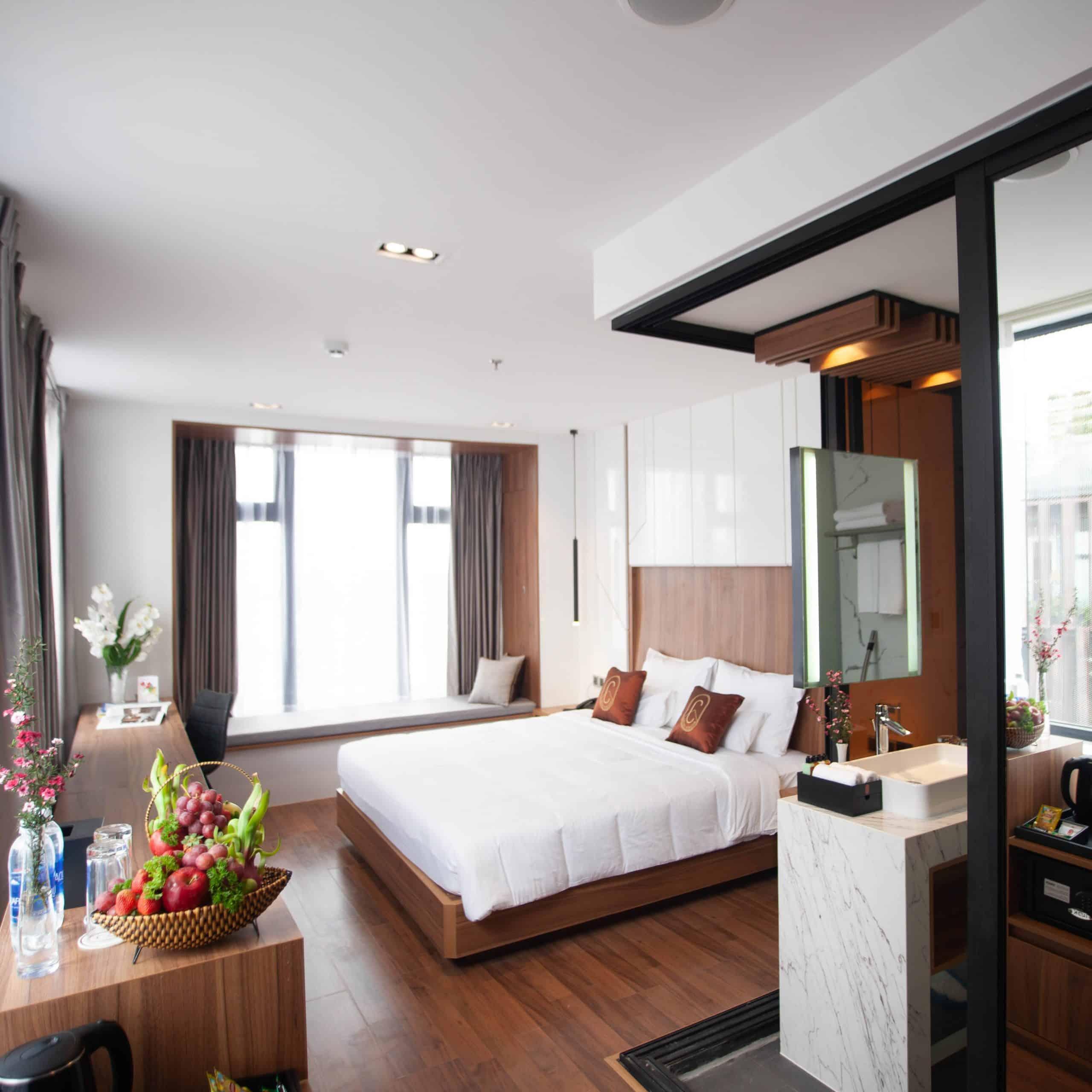 Phòng nghỉ hiện đại. Hình: hotelcolline