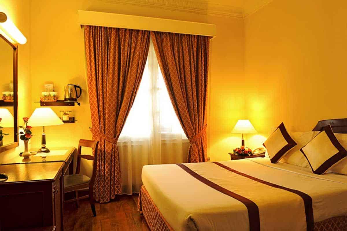Các phòng nghỉ đều mang hơi hướng cổ điển tinh tế