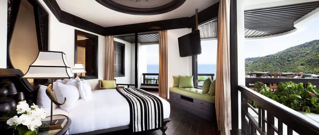 Các phòng nghỉ tiện nghi, sang trọng với cảm hứng từ kiến trúc truyền thống