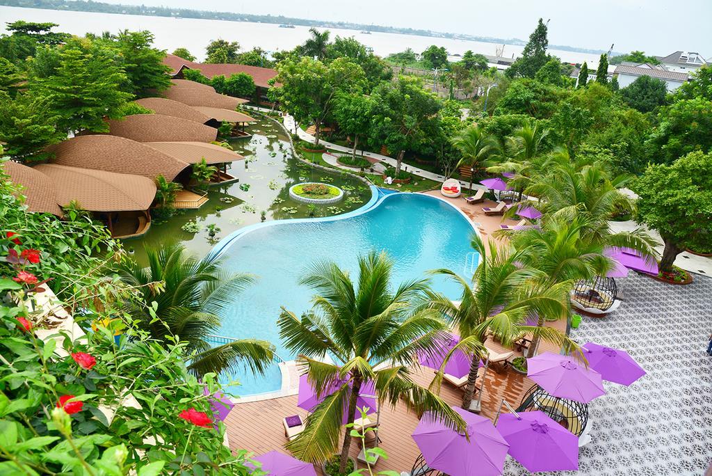 Khung cảnh tươi đẹp và mộng mơ của Cồn Khương Resort