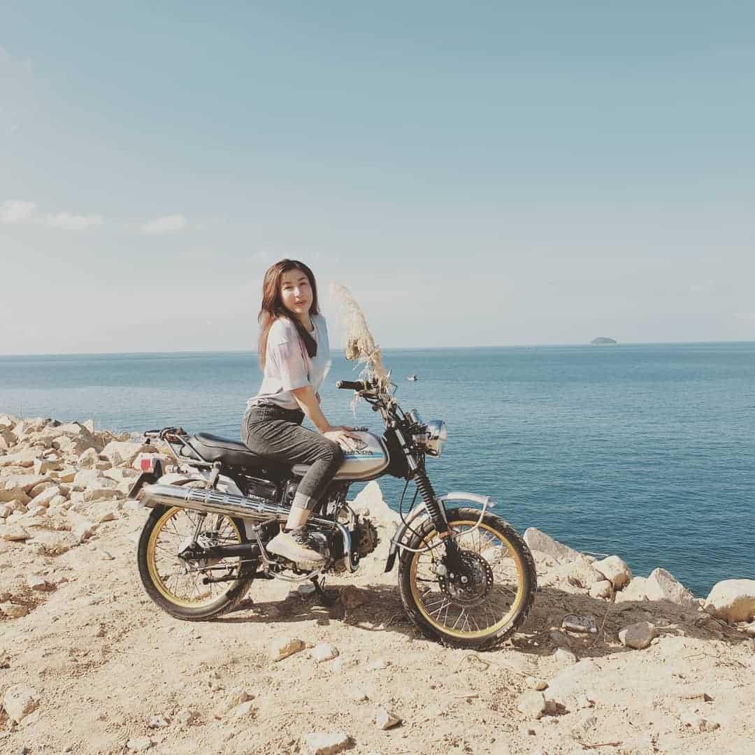 Nếu bạn muốn phượt đảo Hòn Nghệ thì có thể mang theo xe máy nhé. Hình: @kelvin_huynh_521