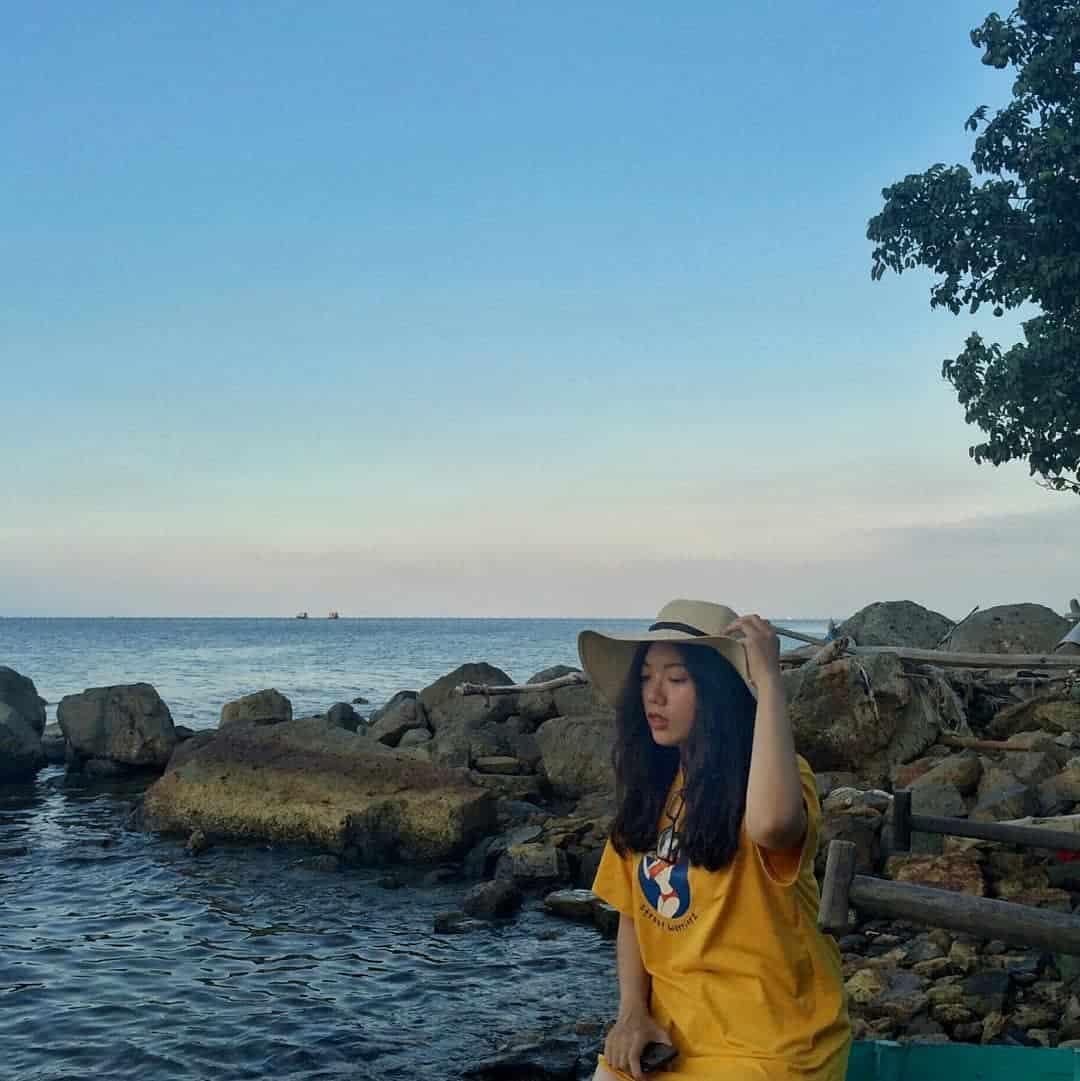 Ở đảo Hòn Nghệ, góc nào lên hình cũng thật xinh. Hình: @vie.dg