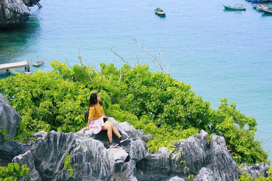 """Một góc sống ảo """"đẹp miễn chê"""" của đảo Hòn Nghệ. Hình: @ngnhatphuong"""