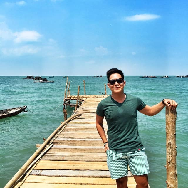 Màu nước đảo Hòn Nghệ xanh trong vắt. Hình: @apo_ni_ka_norma