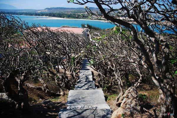 Con đường bậc thang tuyệt đẹp dẫn lên ngọn hải đăng. Ảnh: DoanVien