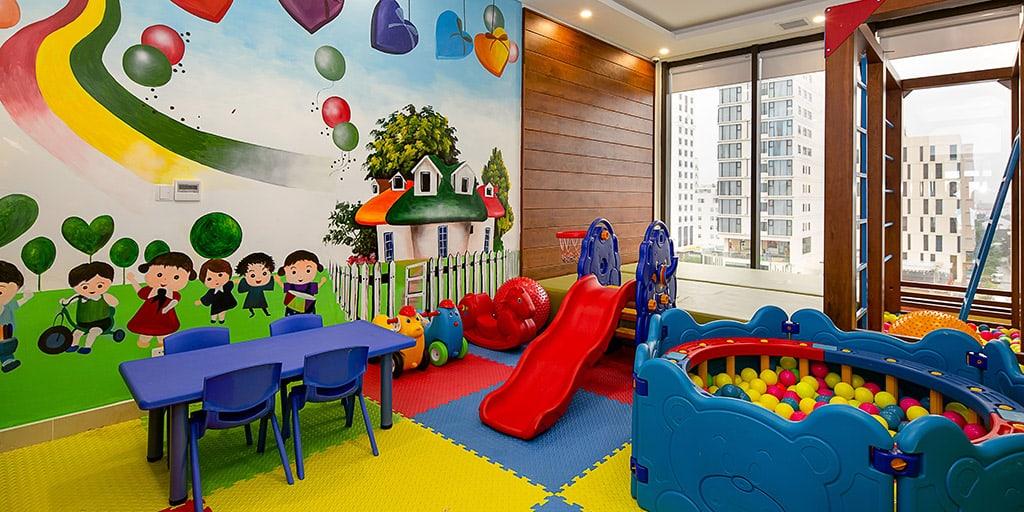Khu vui chơi cho trẻ em đầy màu sắc