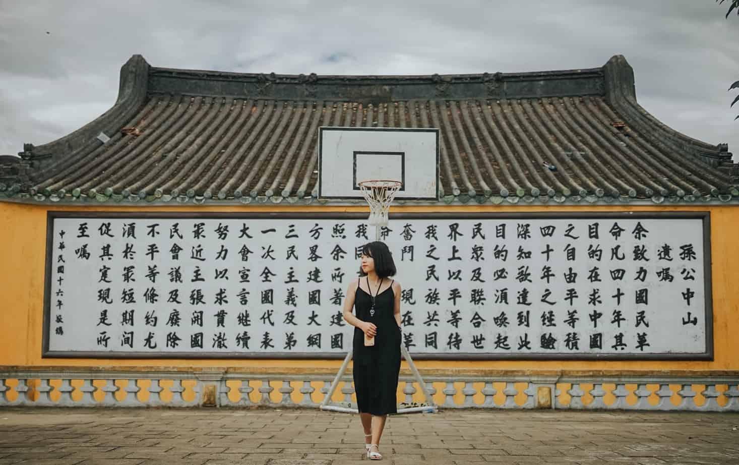 Sân bóng rổ Lễ Nghĩa. Hình: Hoàng Linh Hà