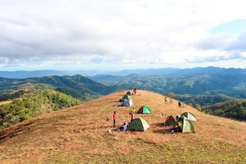 Cắm trại giữa nơi núi rừng hoang vu tận hưởng tiết trời vùng cao là hoạt động rất được ưu thích