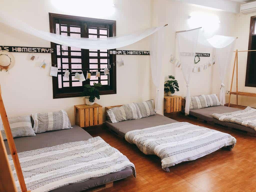 Phòng nghỉ tại Soha homestay Đà Nẵng với thiết kế hài hòa, tiện nghi