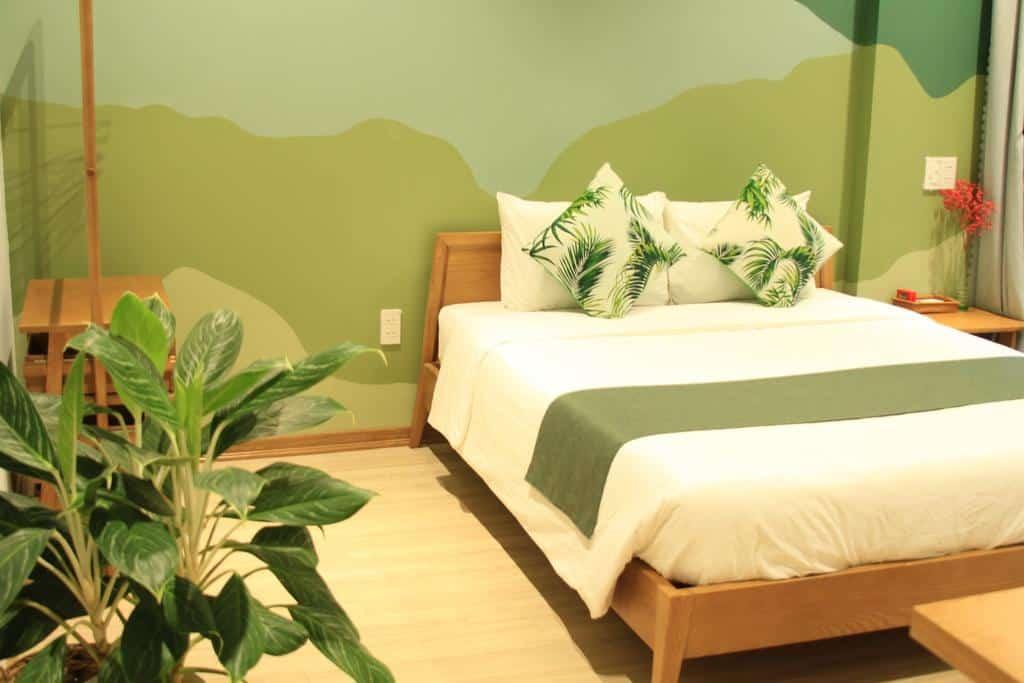 Phòng nghỉ tràn ngập khoảng xanh đem đến cảm giác tươi vui và nhiều sức sống