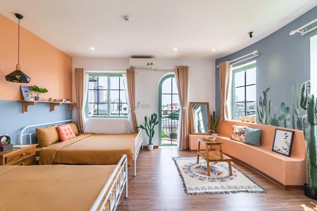 Phòng nghỉ với 2 tone màu vừa độc đáo nhưng vẫn trang nhã