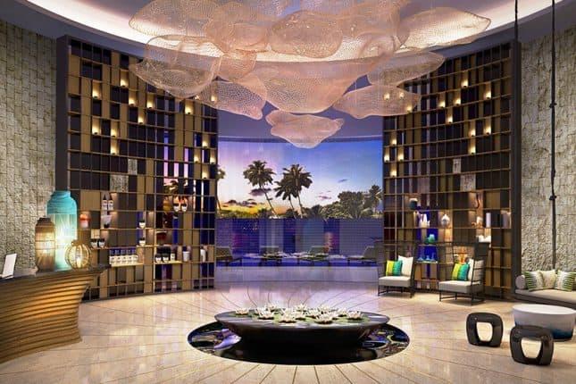 Lối kiến trúc bên trong với màu sắc ấm áp và gần gũi
