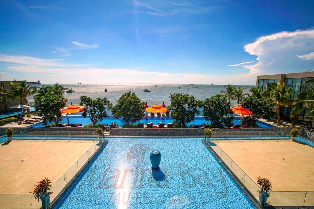 Không gian xanh của biển trời và cây cối hiện diện ở mọi ngóc ngách của khu resort