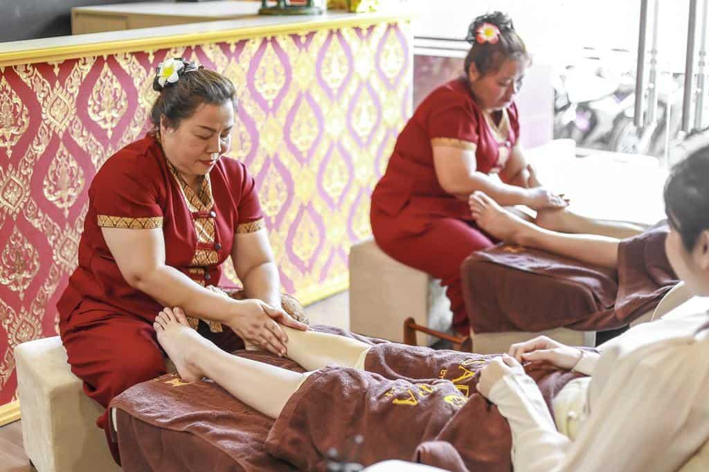 Dịch vụ Spa với nhiều liệu trình massage theo phong cách Thái Lan được du khách yêu thích