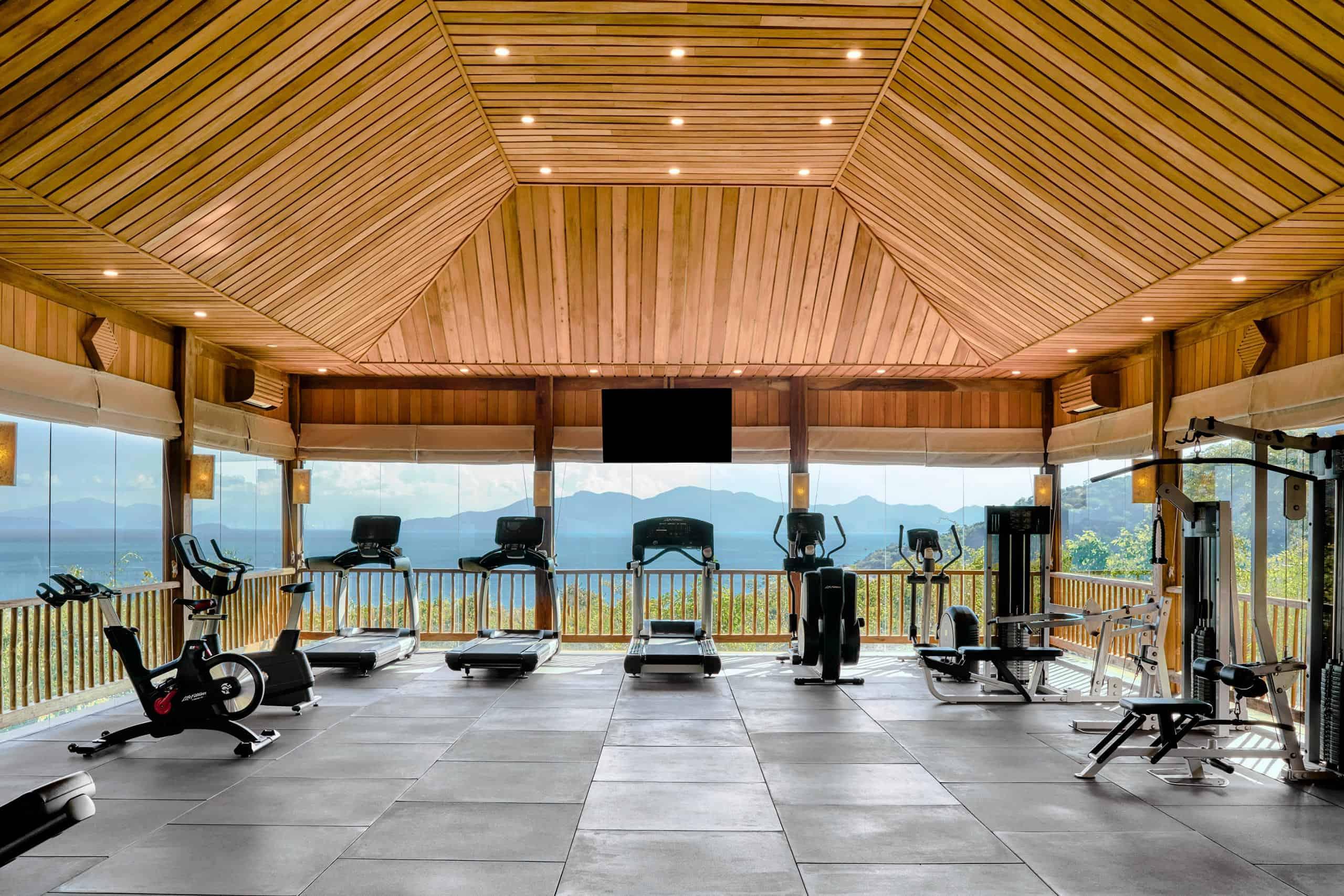 Phòng tập Gym tại khu nghỉ dưỡng