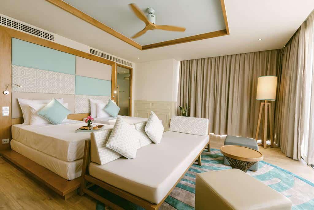 Phòng nghỉ thoáng, nhiều ánh sáng và màu sắc tinh tế