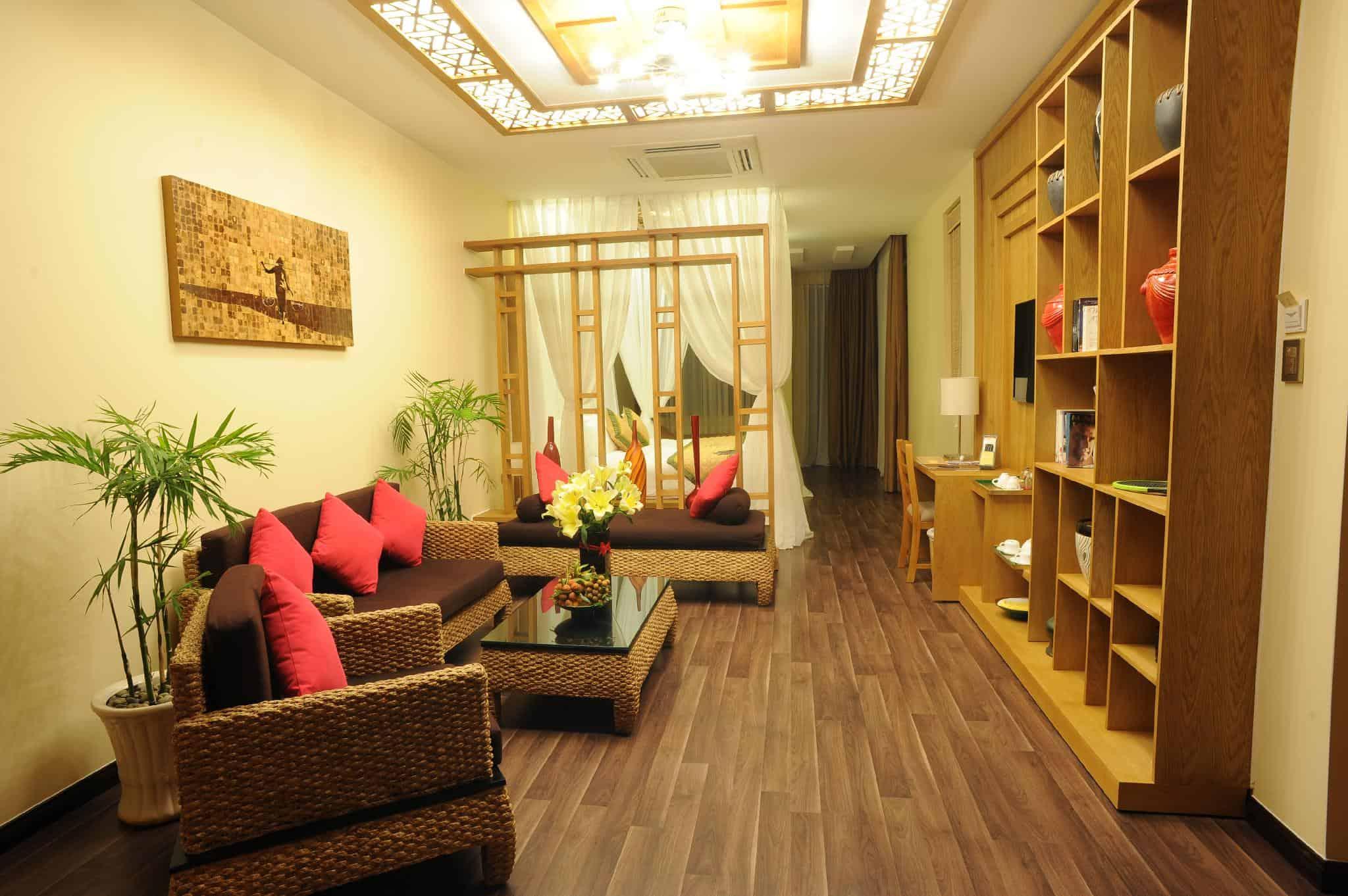 Villa với diện tích lên tới 119m2. Hình: Aroma Beach Resort & Spa