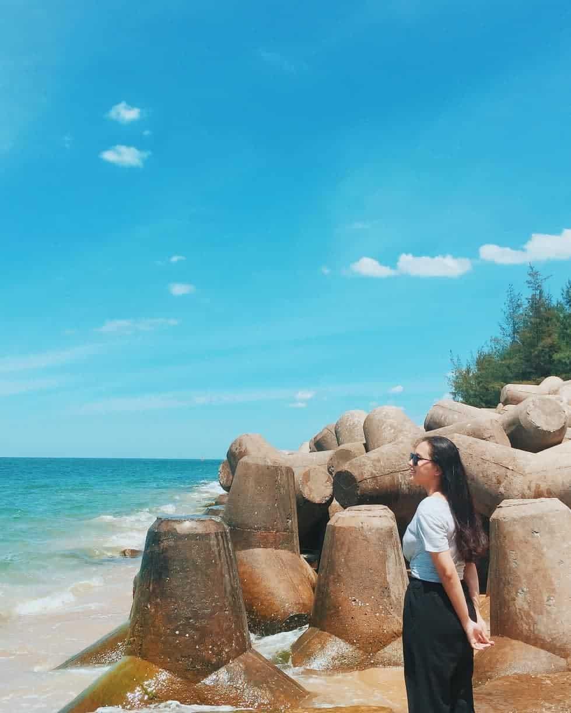 Biển Hải Dương trong xanh. Hình: @ut_0508