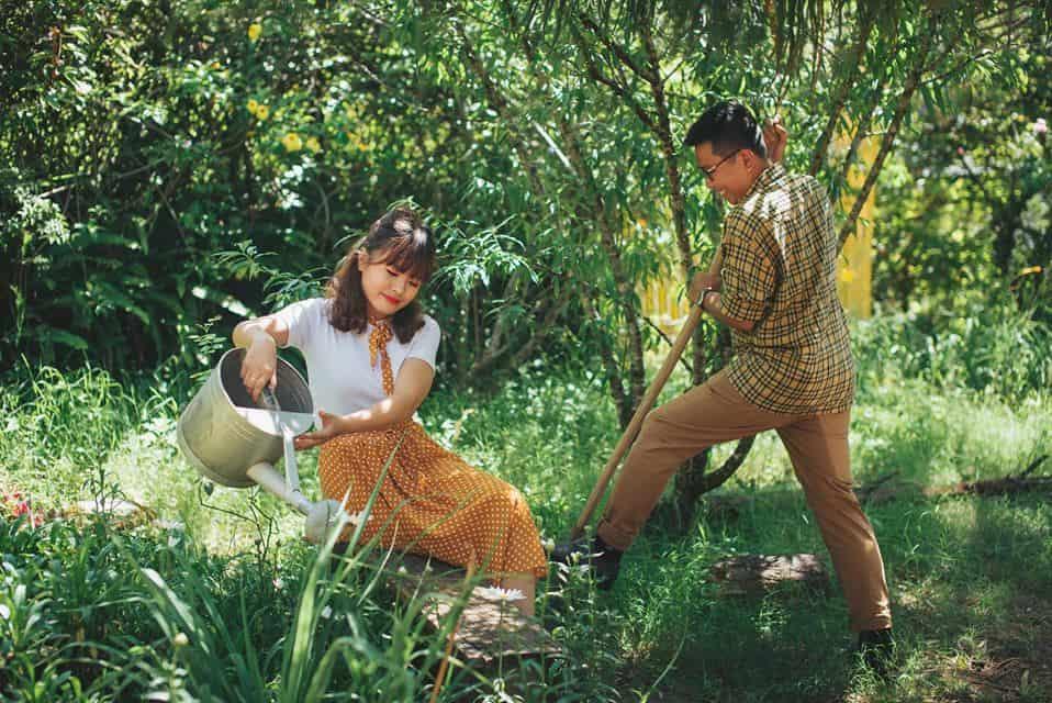 Chăm sóc khu vườn nhỏ - Tận hưởng cảm giác hứng khởi