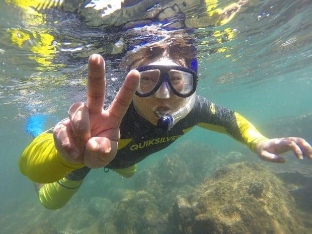 Thích thú với trải nghiệm lặn biển. Hình: Sưu tầm