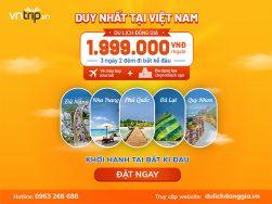 Du lịch giá rẻ với combo đồng giá cực hấp dẫn từ Vntrip