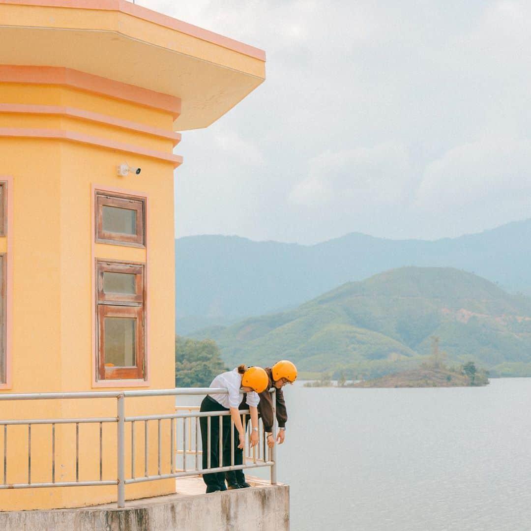 Những góc check-in tuyệt đẹp của hồ Hòa Trung. Hình: @mvcthinh