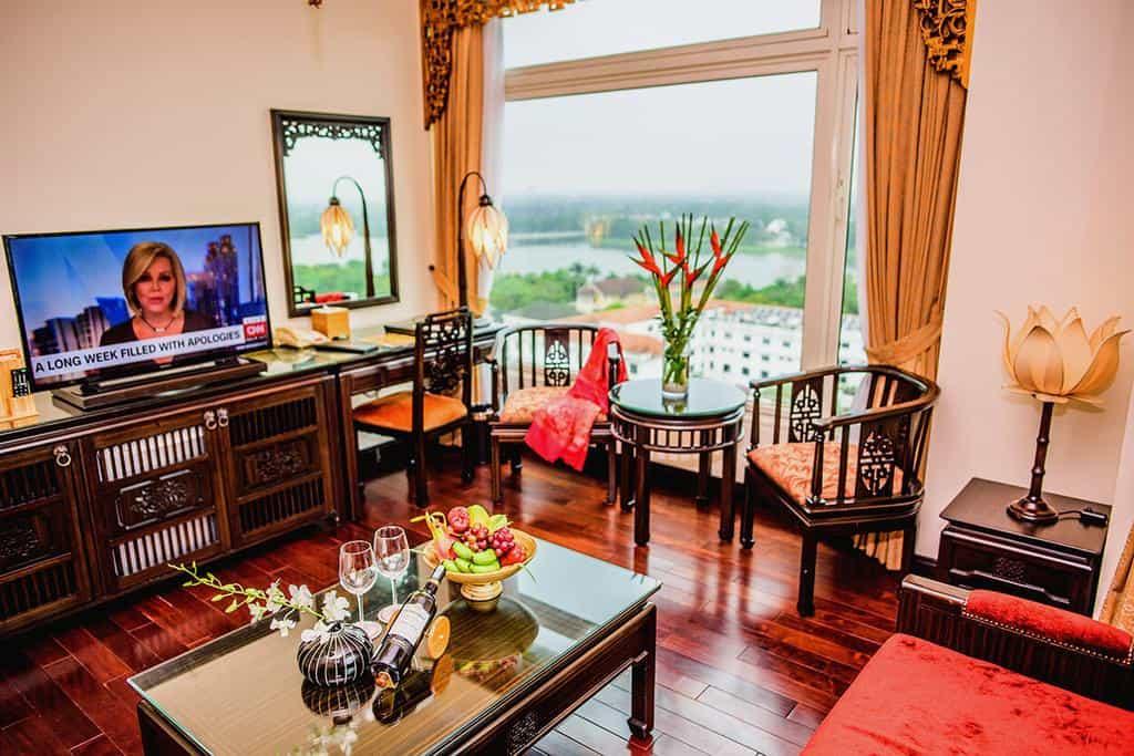 Phòng nghỉ được thiết kế theo lối cung đình