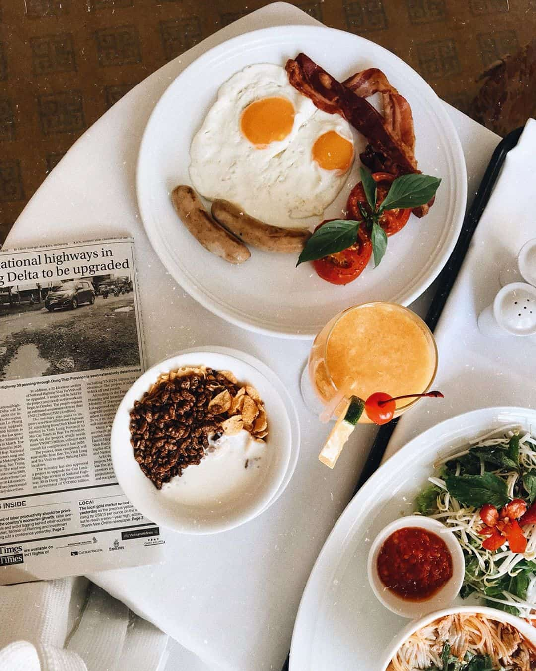Bữa sáng tại Indochine Palace. Hình: @Hueandsuntravel