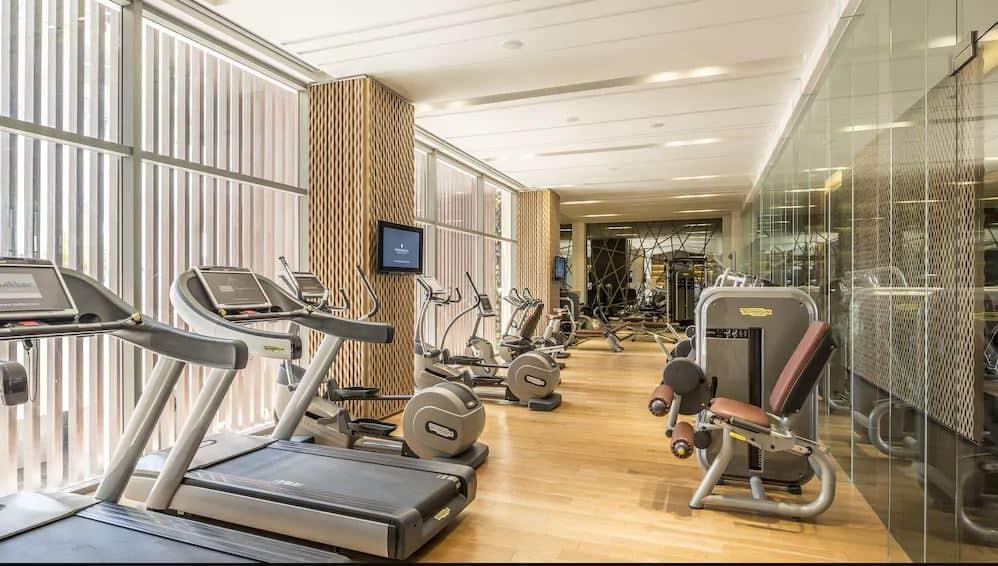 Phòng tập gym với đầy đủ trang thiết bị hiện đại. Hình: InterContinental Nha Trang