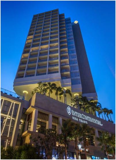 Mặt trước khách sạn InterContinental Nha Trang. Hình: InterContinental Nha Trang