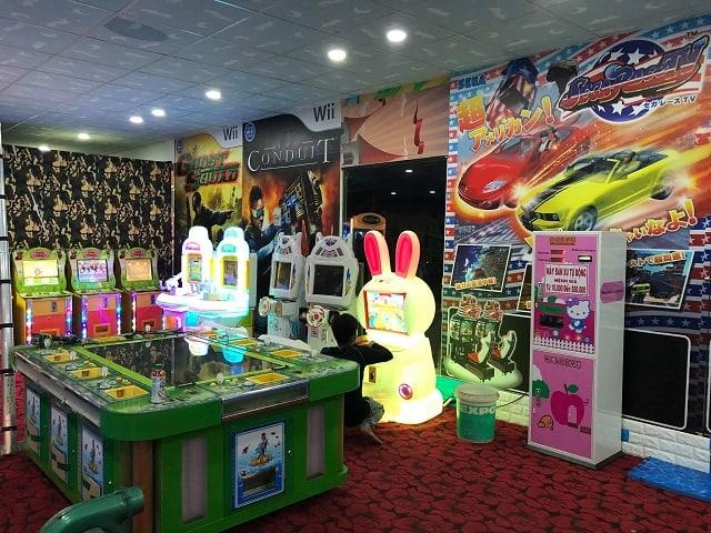 Khu chơi game tại Thỏ Trắng Mega Market Cần Thơ