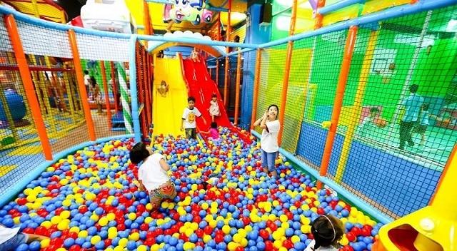 Tiniworld Đà Nẵng có nhiều khu vui chơi phù hợp với từng độ tuổi của bé