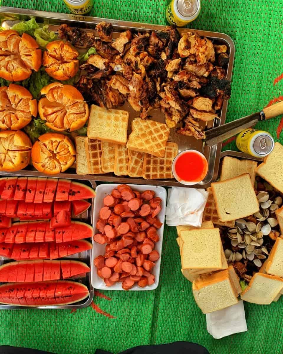 Thưởng thức bữa ăn tại Pu Nhi Farm. Hình: @_khanhle_2002_