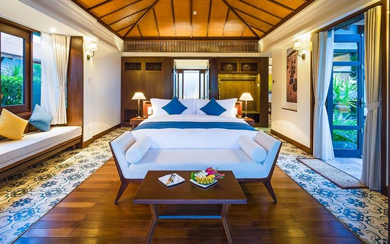 Không gian ấm áp đầy tinh tế bên trong villa The Anam Resort