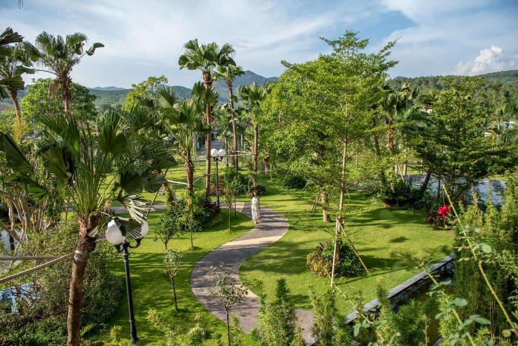 Trải nghiệm không gian xanh cùng với những khu vườn xanh mướt