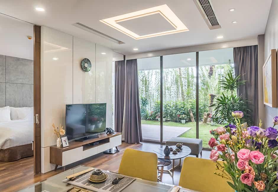 Biệt thự Sky Residence 1 phòng ngủ với thiết kế hiện đại