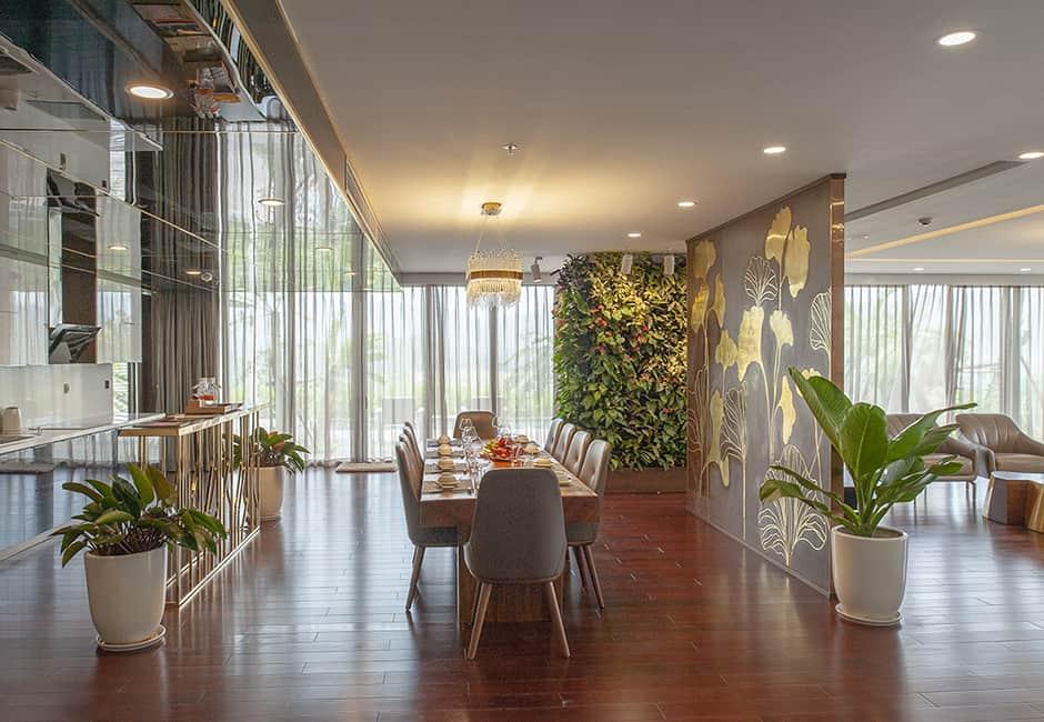Từng chi tiết nội thất bên trong căn biệt thự đều toát lên vẻ sang trọng