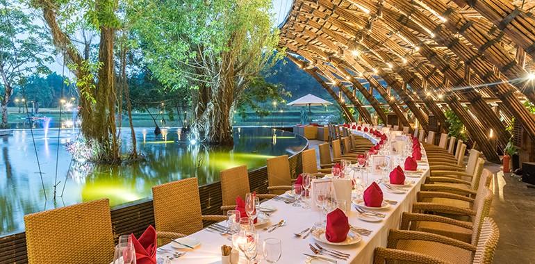 Nhà hàng Bamboo Wings với lối thiết kế ấn tượng từ vật liệu dân dã