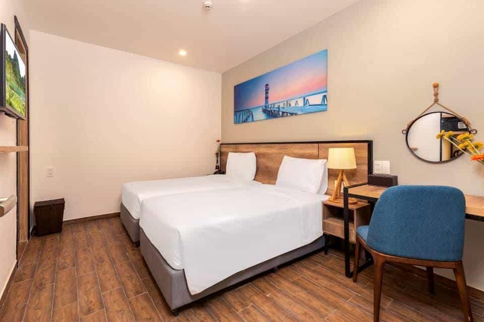 Phòng giường đôi ấm cúng và tiện nghi như ở nhà