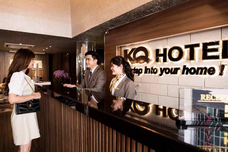 Khách sạn KP Hotel nằm gần bến Ninh Kiều có không gian hiện đại