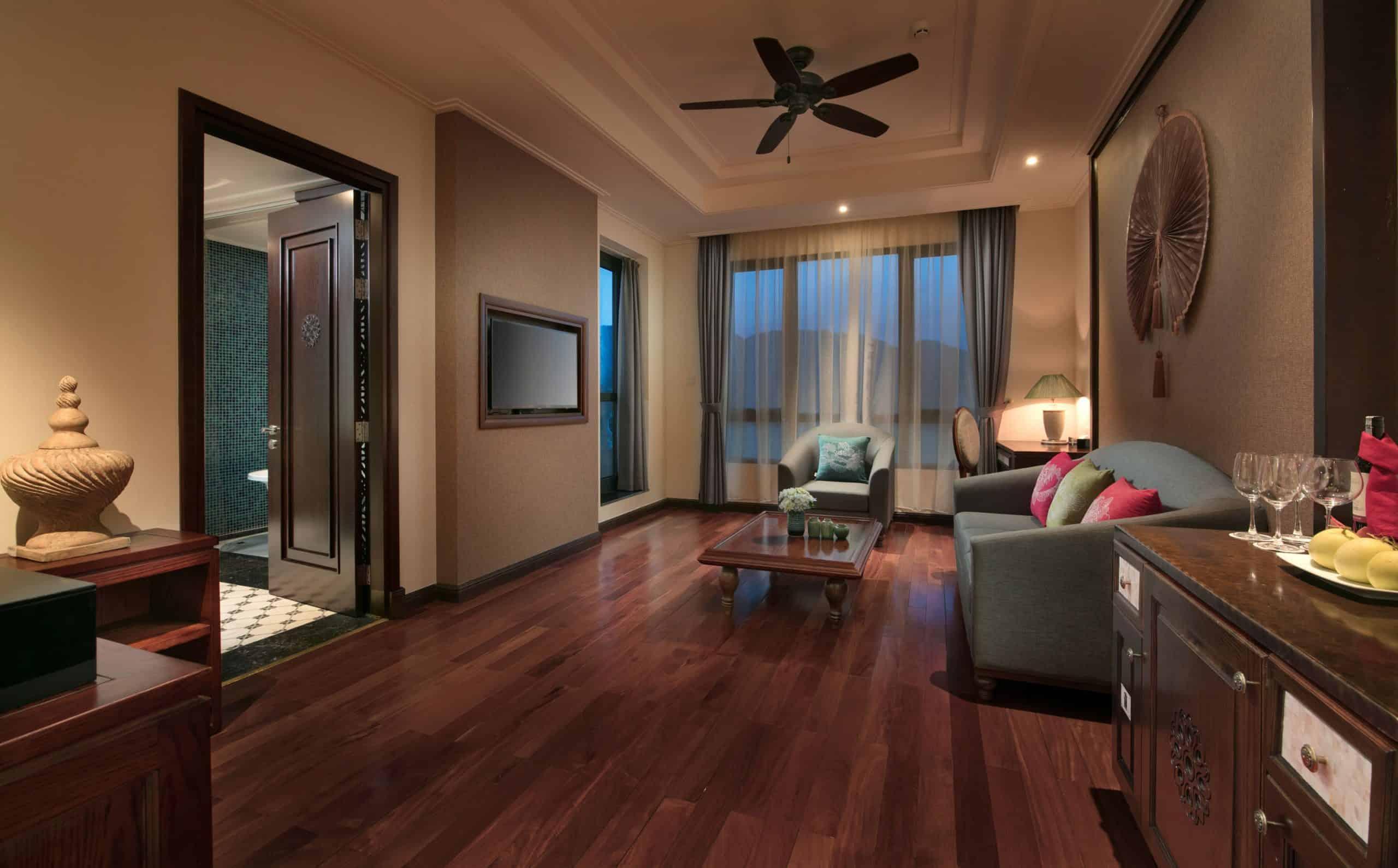 Không gian phòng khách đầy đủ tiện nghi và ấm cúng như ở nhà