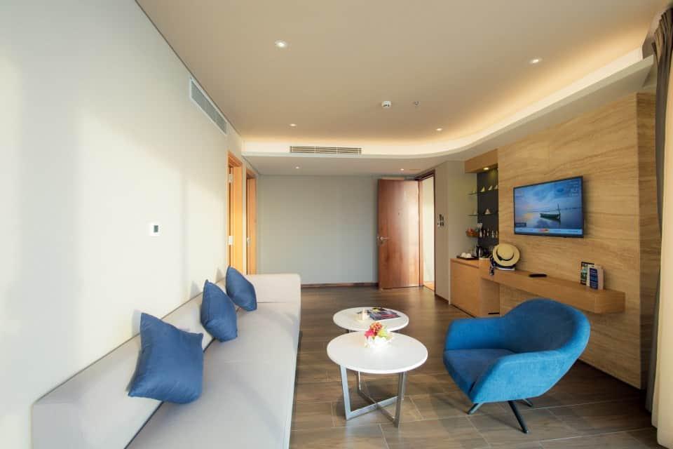 Thiết kế phòng khách với nội thất tiện nghi trong các phòng nghỉ