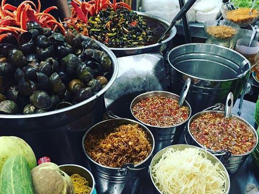 Khám phá ẩm thực chợ Cồn - Nguồn ảnh: Internet